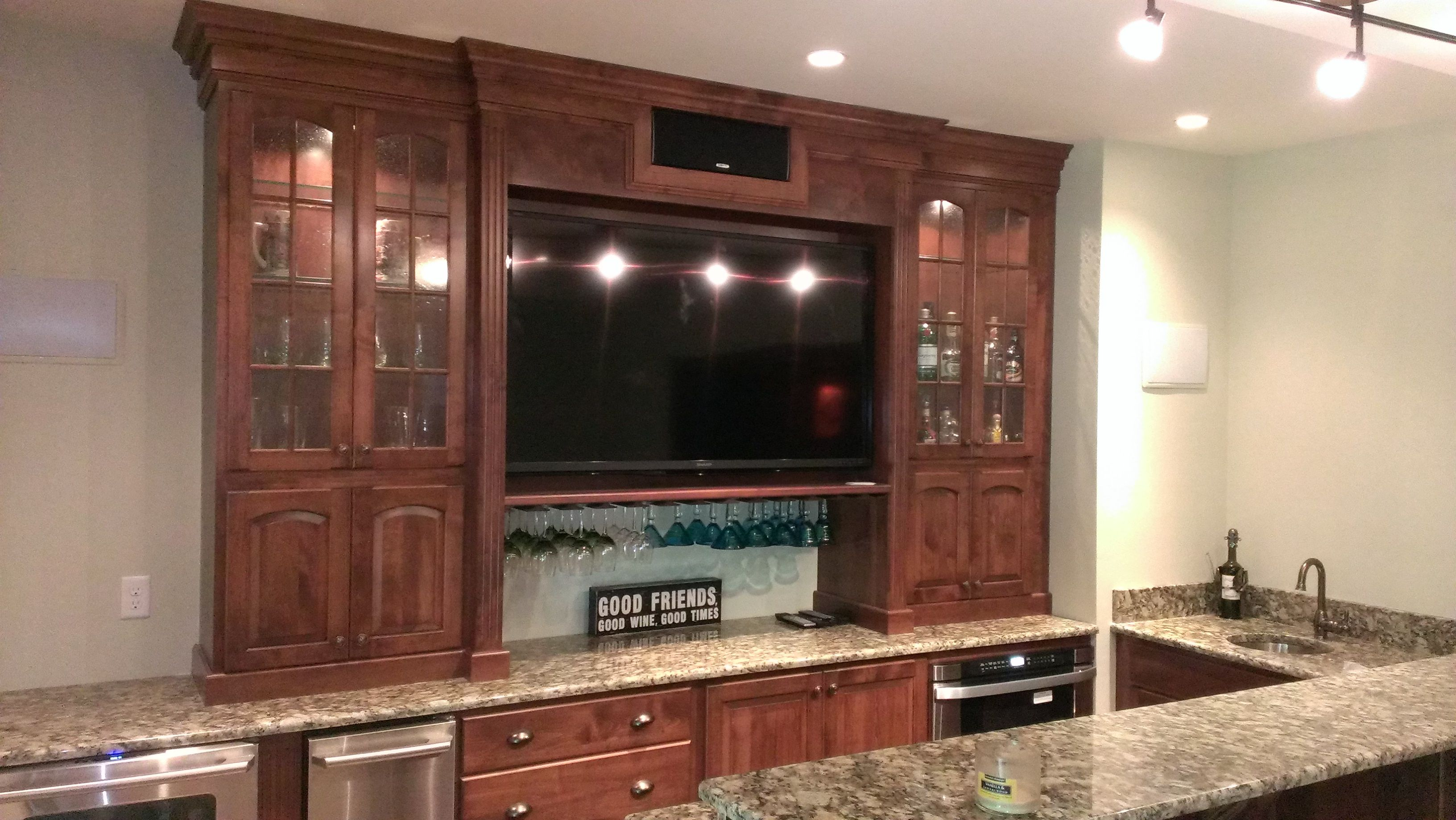 Conestoga Wood Speciality Basement Bar Area Justincabinets Www Justincabinets Com Home Basement Bar Area Home Decor