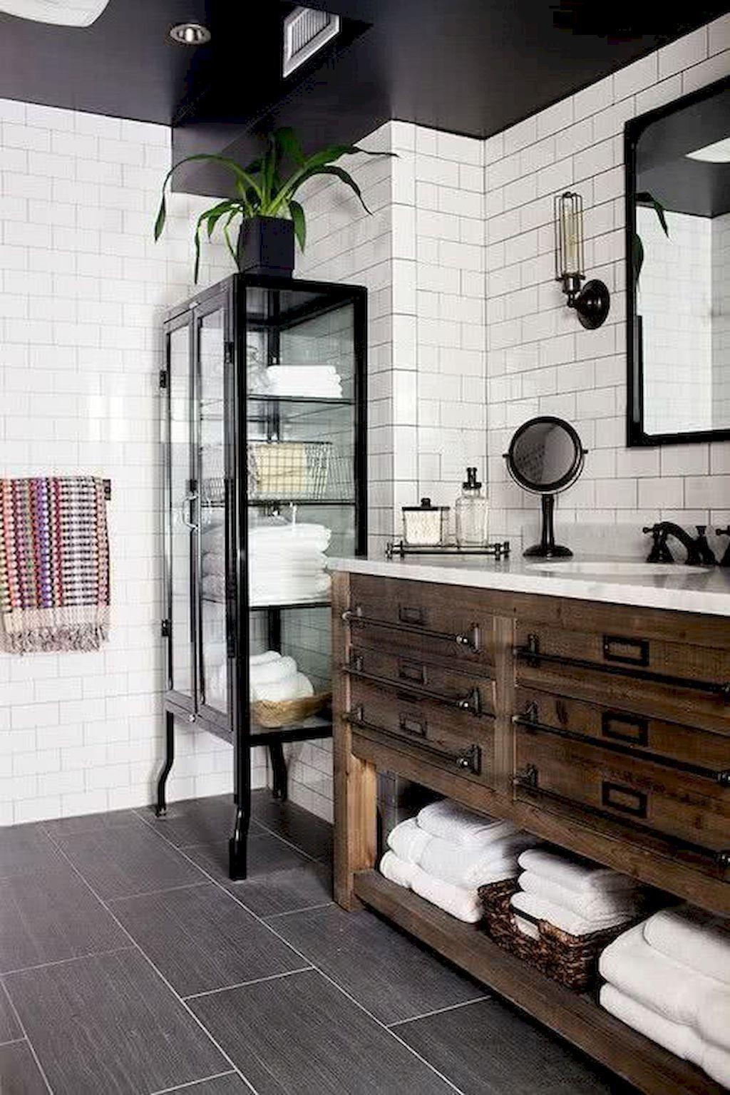 80 Farmhouse Bathroom Furniture Ideas On A Budget Salle De Bain