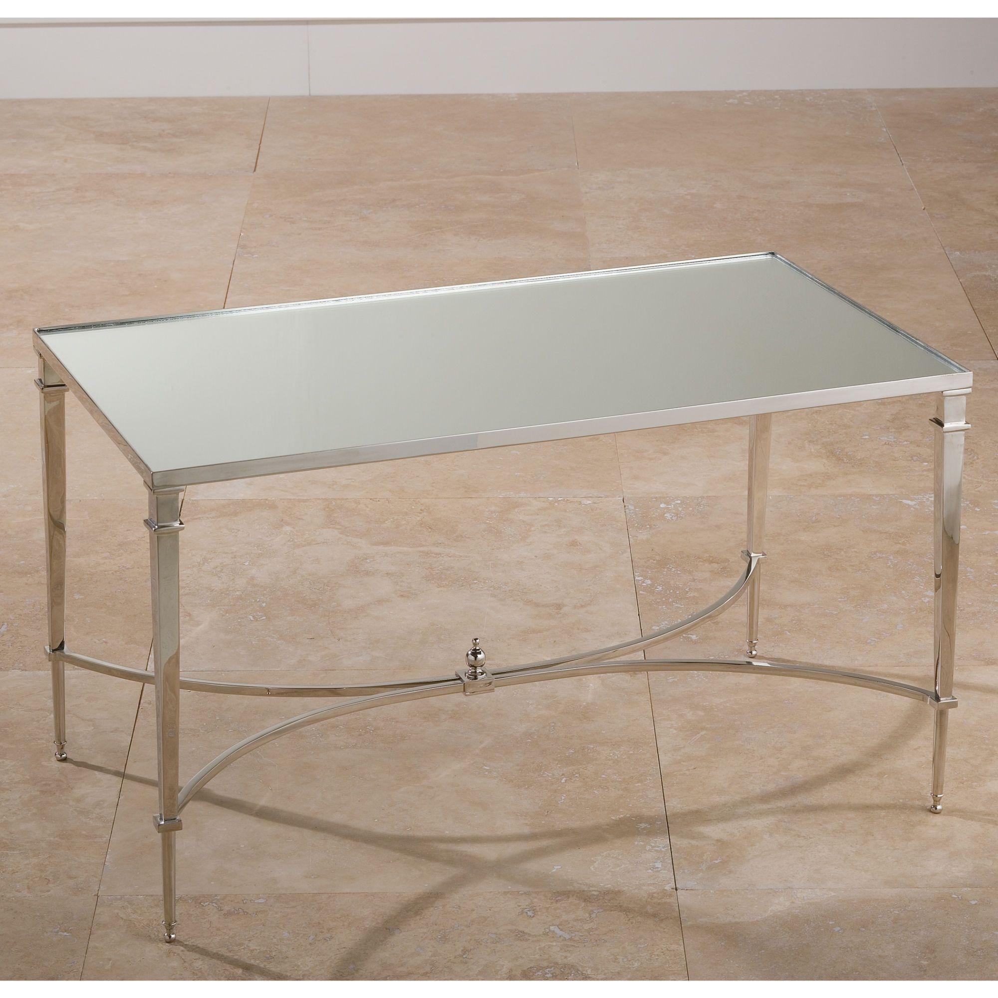 Excellent Global Views French Square Nickel Mirror Coffee Table In Frankydiablos Diy Chair Ideas Frankydiabloscom