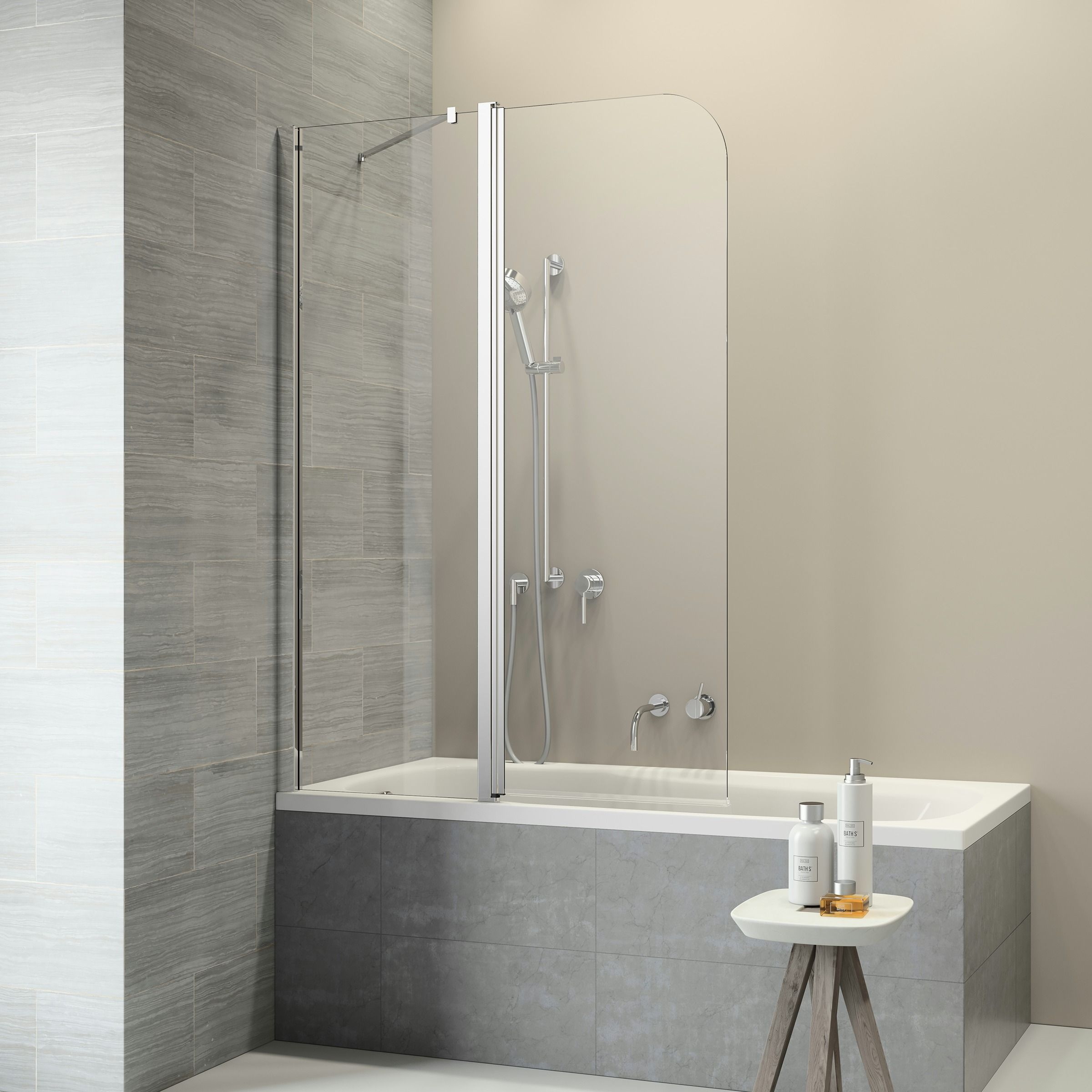Badscherm 2 Delig.Get Wet Badwand Code L 2 Delig 130x152 Cm Products In 2019