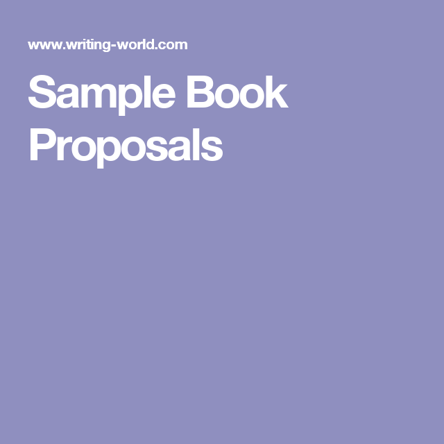 Sample Book Proposals  Book Proposal    Proposals