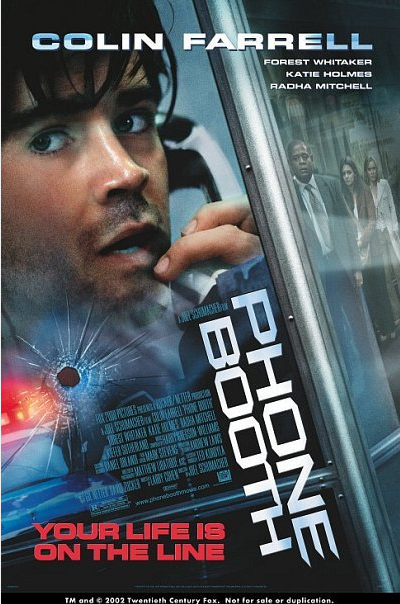 In Phonebooth, you follow Stu Shepard.  Throughout the film, he is being kept in a phonebooth by a sniper that is sat in a window in the building on the opposite side of the road from him.  The first scene of my film has JOE BLOGGS (My main character) sitting in a window with a sniper rifle, looking at someone coming out of the pub on the opposite side of the road from him.  It's almost like the beginning of my film is the otherside of the story from Phonebooth.