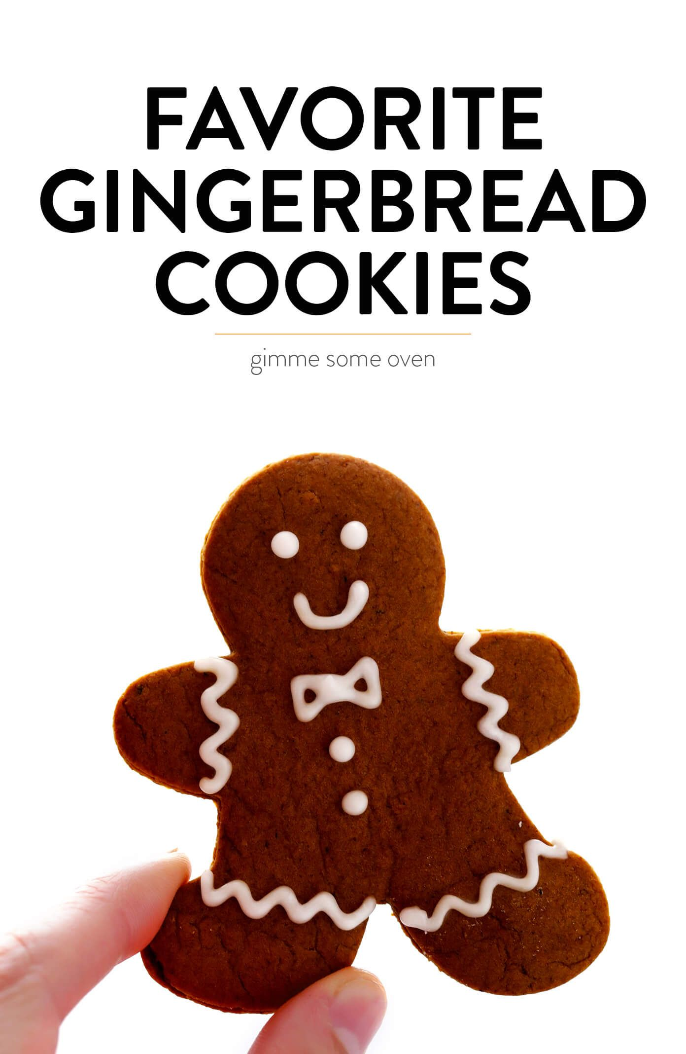 Gingerbread Cookies My favorite Gingerbread Cookies recipe! It's easy to make as soft or as crispy as you'd like, the cookies are easy to cut out and decorate, and they are perfect for the holidays! | Gimme Some Oven