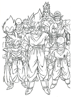 Dragon Ball Z Coloring Pages Games. Colorir Imagens  para colorir do dragon ball z Dragon Ball GtColoring PagesAdult Coloring