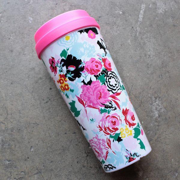 ban.do 'hot stuff' thermal travel mug - florabunda