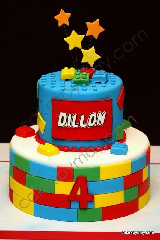 Southern Blue Celebrations Lego Southern And Cake - Lego birthday cake decorations
