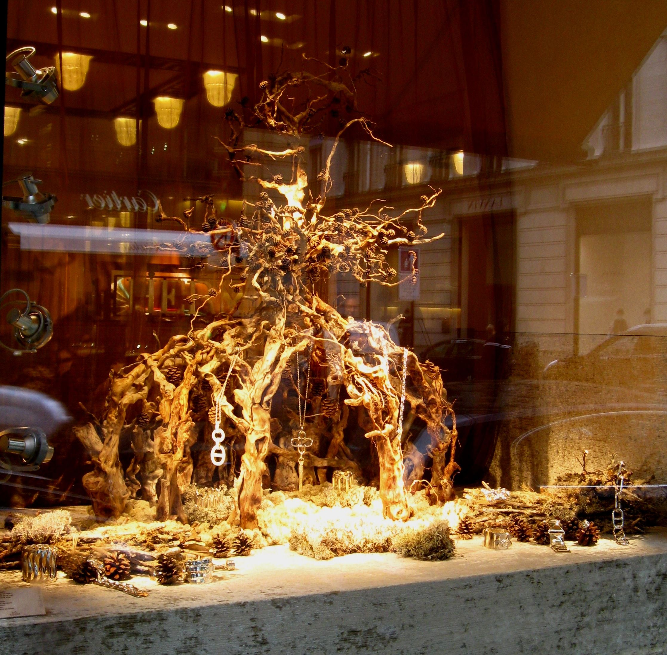 Window display ideas for jewelry  organic jewelry display  retail design  pinterest