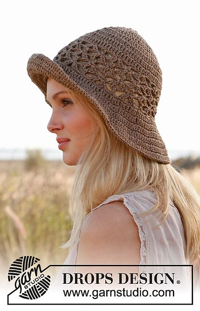 Ravelry: 146-31 Mara - Hat in Bomull-Lin or Paris pattern by DROPS ...