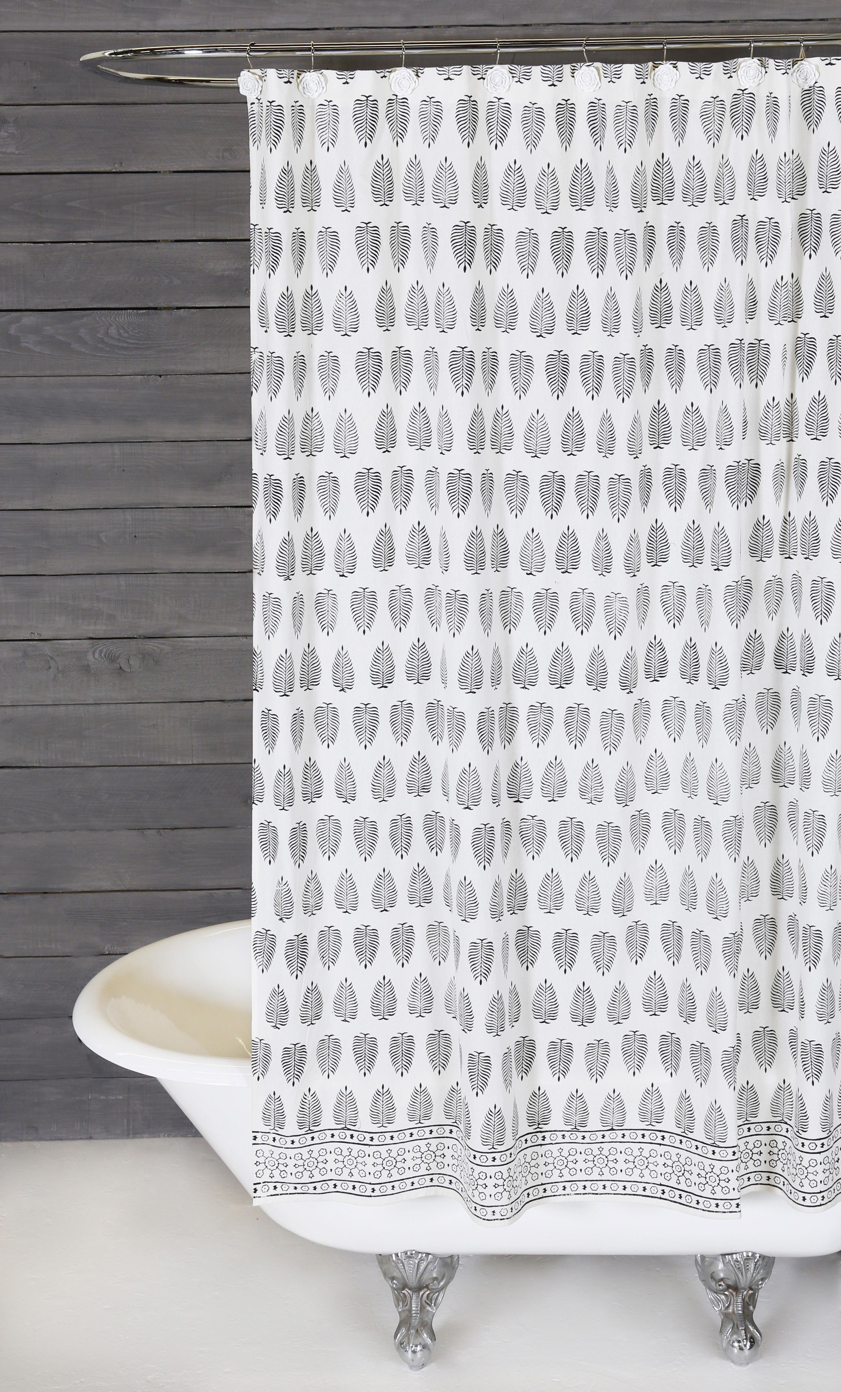 Using An Ancient Indian Technique Called Blocking To Hand Stamp Prints This Shower Curtain Offers Artful Design And Effortlessly Stylish Vibe For Your