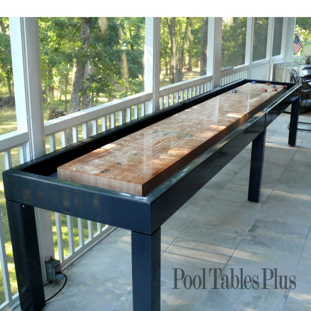 Outdoor Shuffleboard table (With images) Outdoor