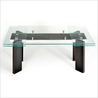 Proton Glass Dining Table   Ebony Base With Glass Extension Top   Scan  Design Furniture   Modern U0026 Contemporary   Florida