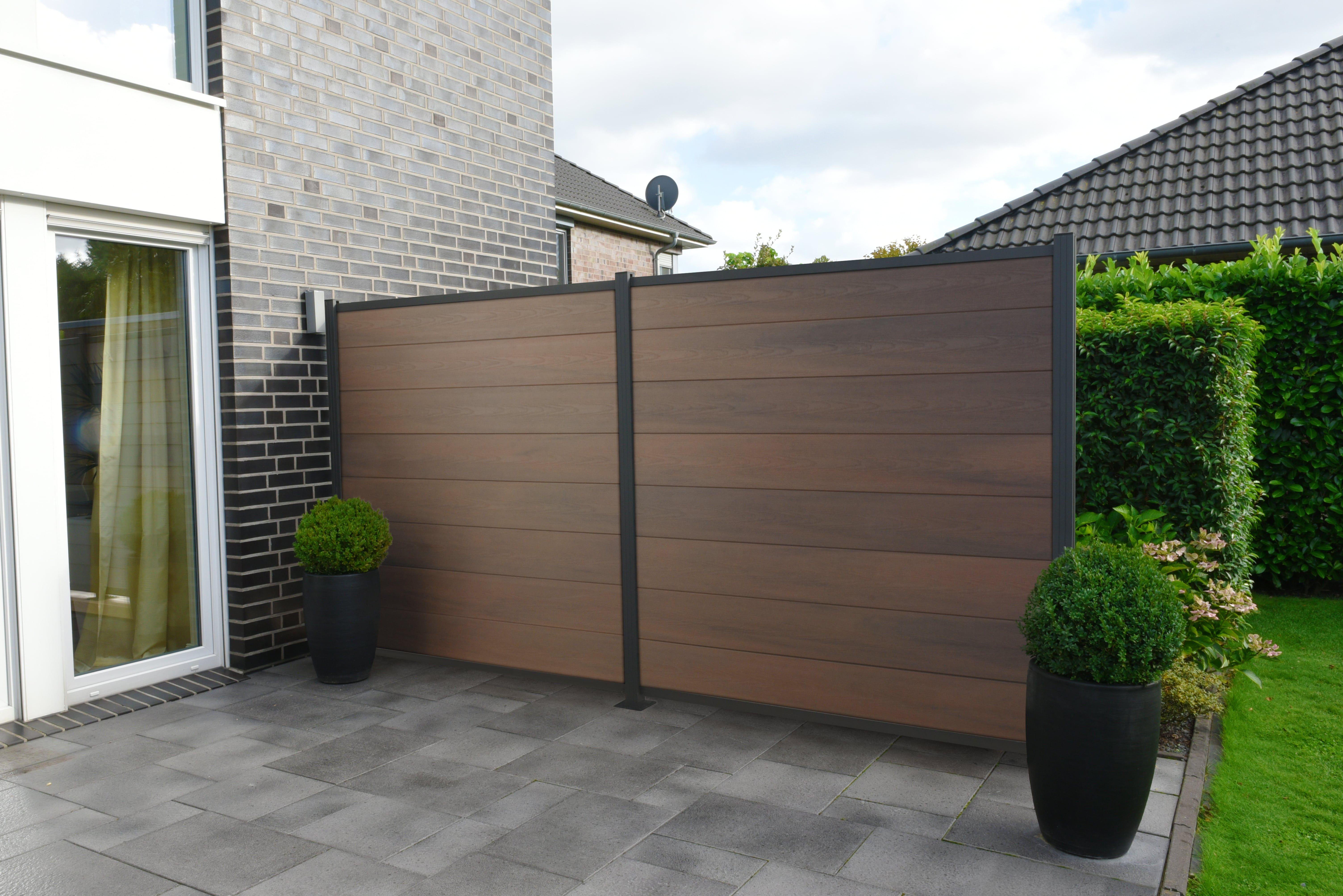Musterbox Wpc Sichtschutz Zaun Windschutz Garten Holz Kunststoff