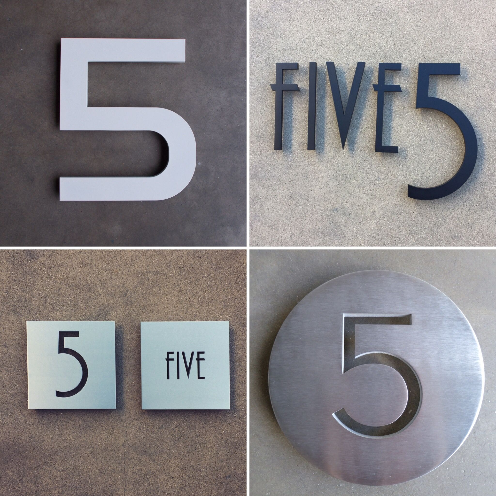 Modern House Numbers 5
