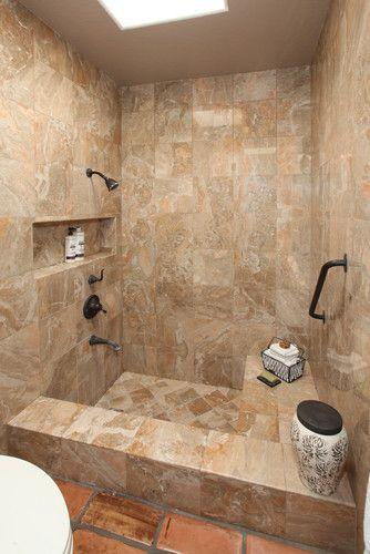 Mediterranean Home Shower Tub Combination Design Pictures Remodel