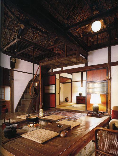 Interiors  Japanese farmhouse.