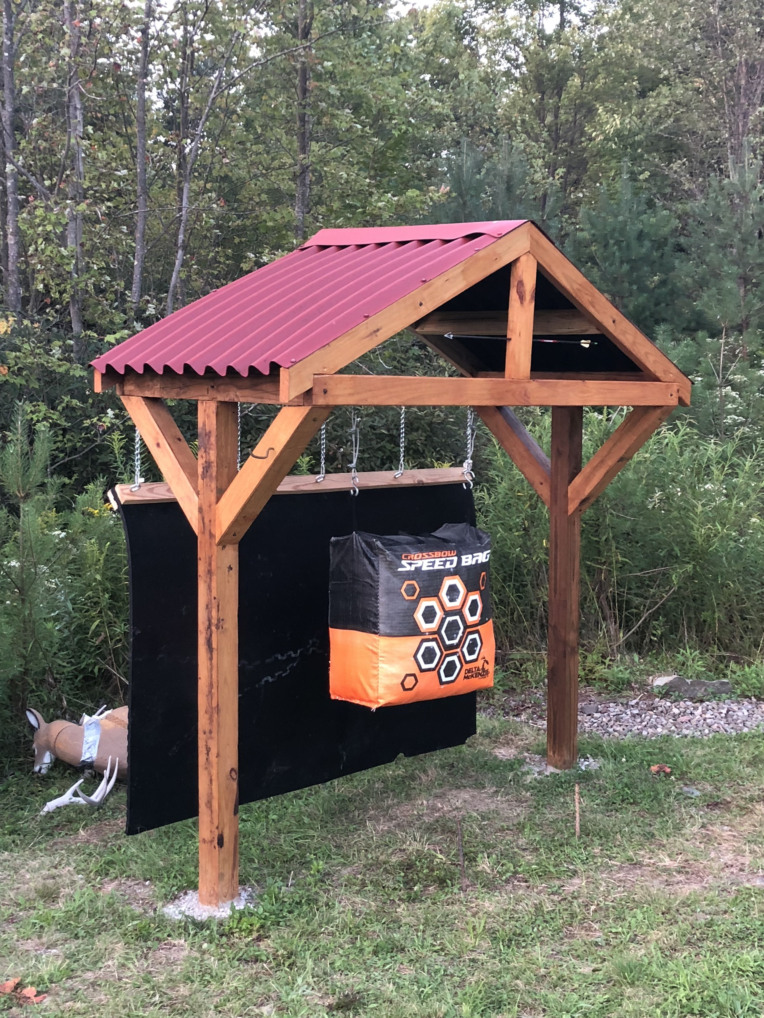 Pin By Becca Mitchell On Archery Stand Hunting Diy Diy Archery Target Archery Diy backyard archery range