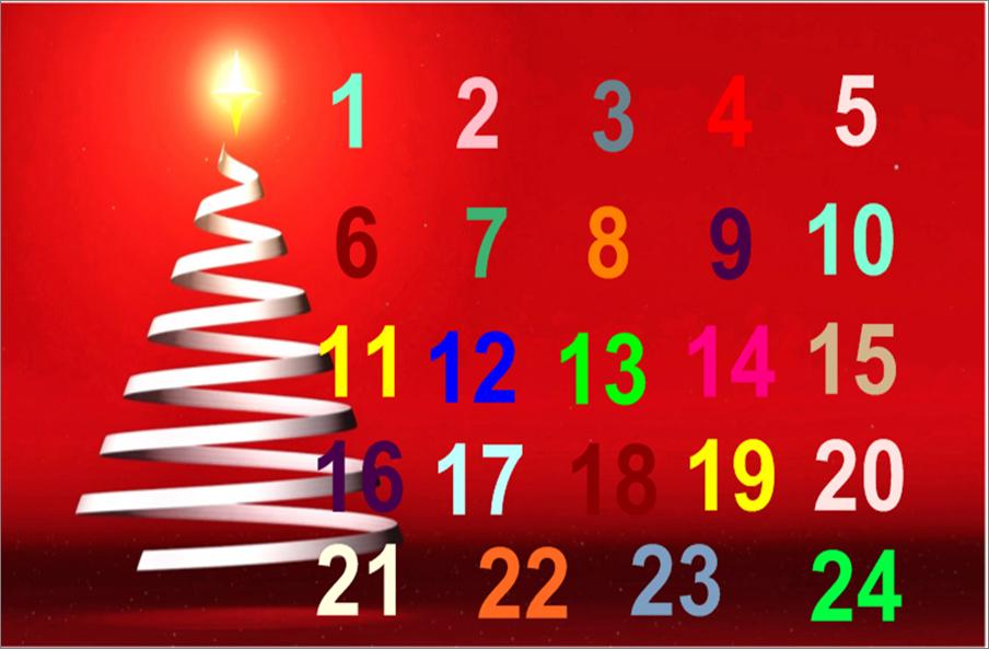 Le calendrier de l 39 avent interactif vocabulaire p re no l le sapin de no l les symboles de - Pere noel interactif ...