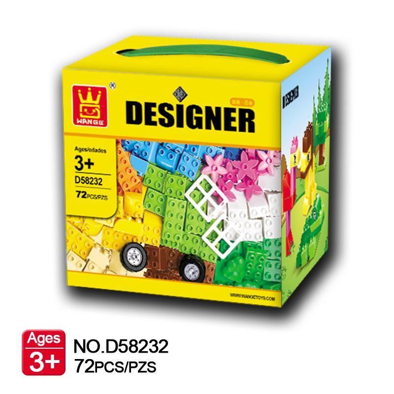 US 72PCS Building Blocks City DIY Creative Bricks Educational Toy Gift For Child