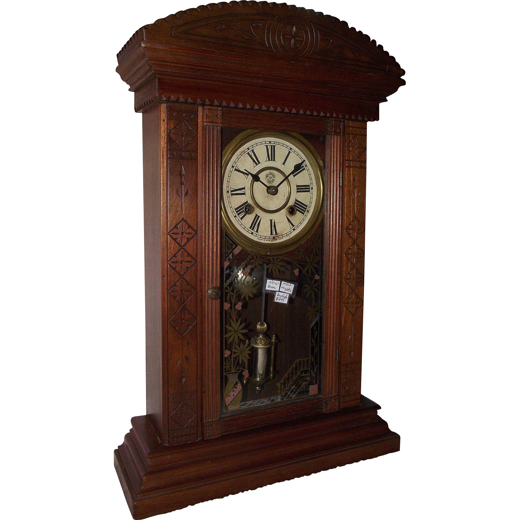 Rare smallest weight driven new haven ganges model shelf clock reportedly the smallestminiature weight driven clock made by new haven ganges model shelf clock amipublicfo Images