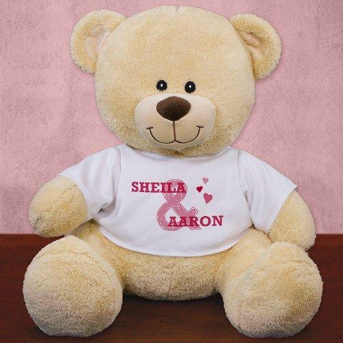Personalized Couples Romantic Teddy Bear Personalised Teddy Bears Christmas Teddy Bear Valentines Day Teddy Bear