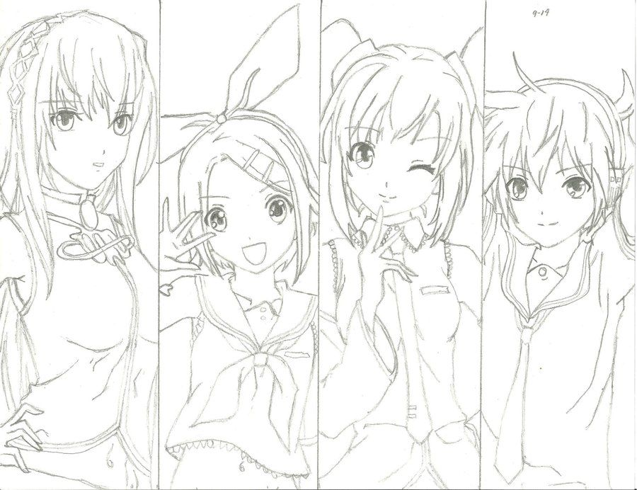 Vocaloid People Coloring Pages Coloring Pages Easy Coloring Pages