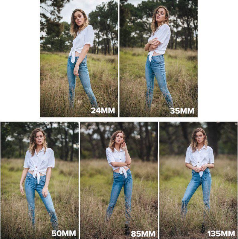 Prime Lens Portrait Shootout 24mm Vs 35mm Vs 50mm Vs 85mm Vs 135mm Portrait Photography Tips Focal Length Photography Photography