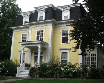 Mansard roof style houses
