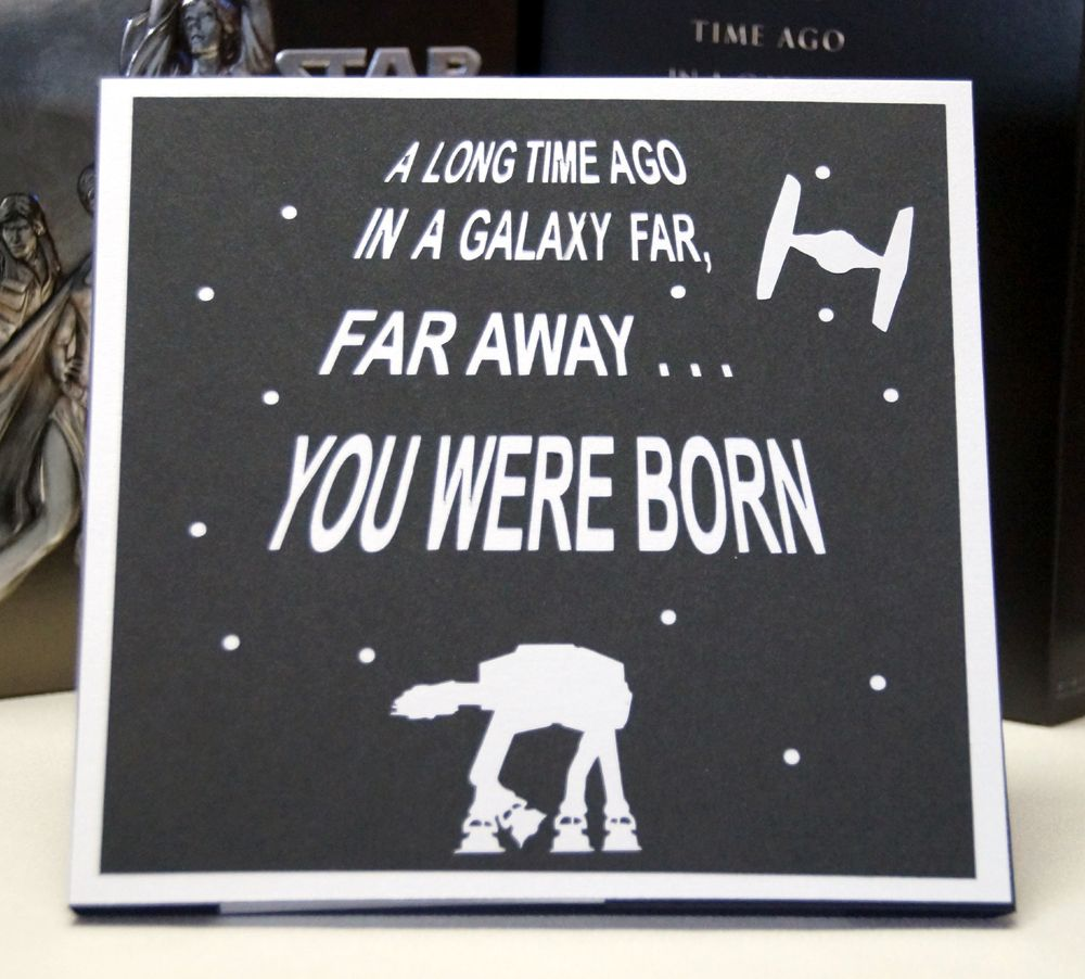 Star Wars 40th Birthday Card Pinteres