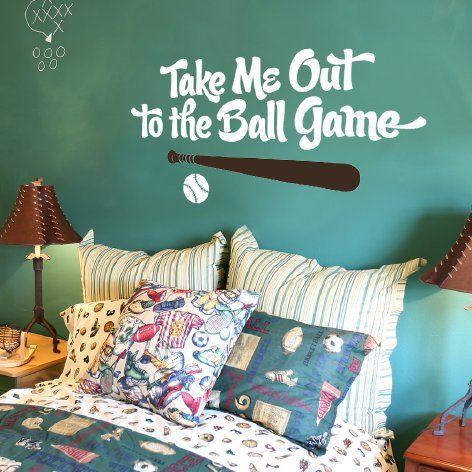 baseball wall decal | Ideas for Grayson's room | Pinterest ...
