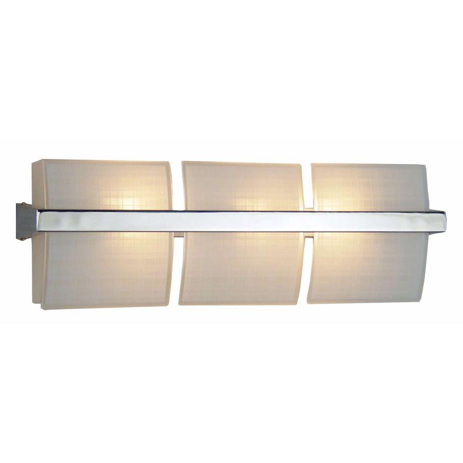 Shop Style Selections 3 Light Adner Chrome Bathroom Vanity