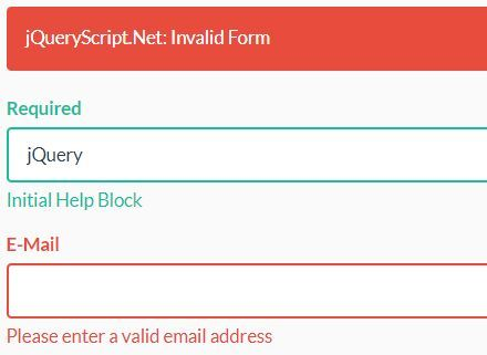 A Basic Jquery Validation Engine For Bootstrap Forms Validatorjs