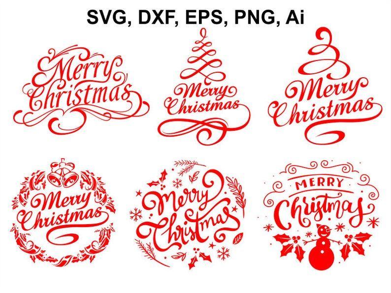 Merry Christmas Svg Christmas Svg File Christmas Clipart Etsy Christmas Svg Files Christmas Svg Christmas Lettering