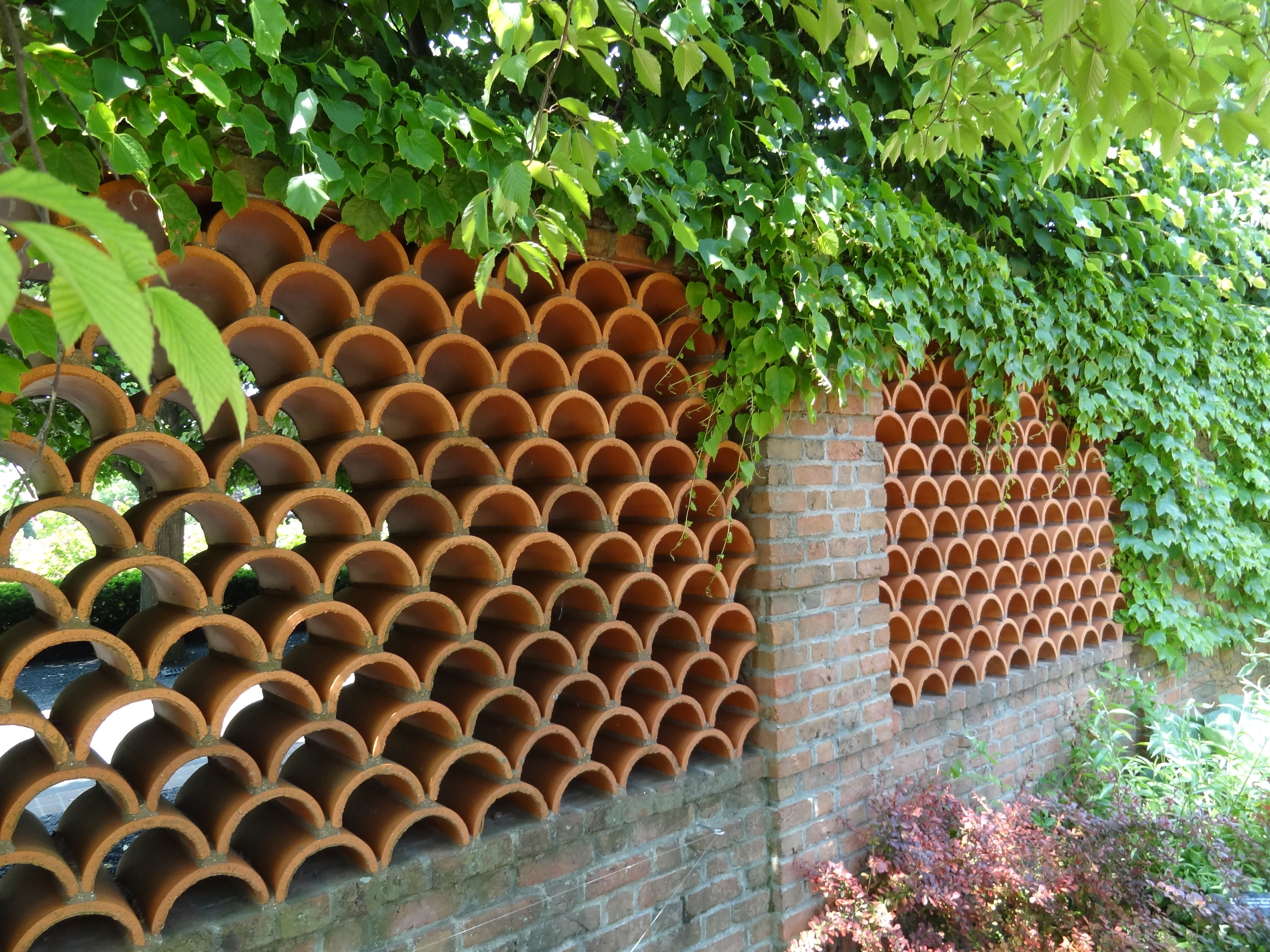 terracotta tile wall | chicago botanic gardens | pinterest
