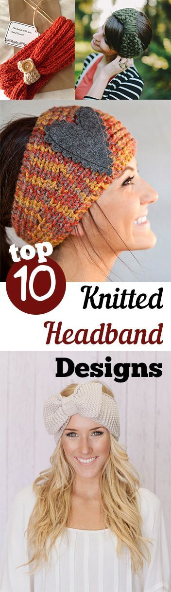Top 10 Knitted Headband Designs | Tejido, Banda y Gorros