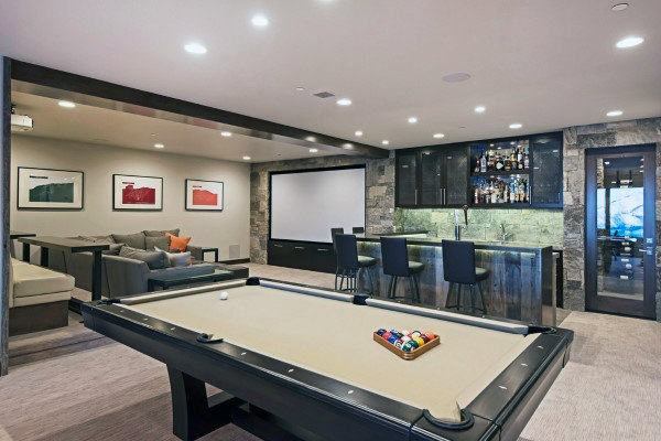 60 Game Room Ideas For Men - Cool Home Entertainment Designs 220676450478273850 #homeentertainment