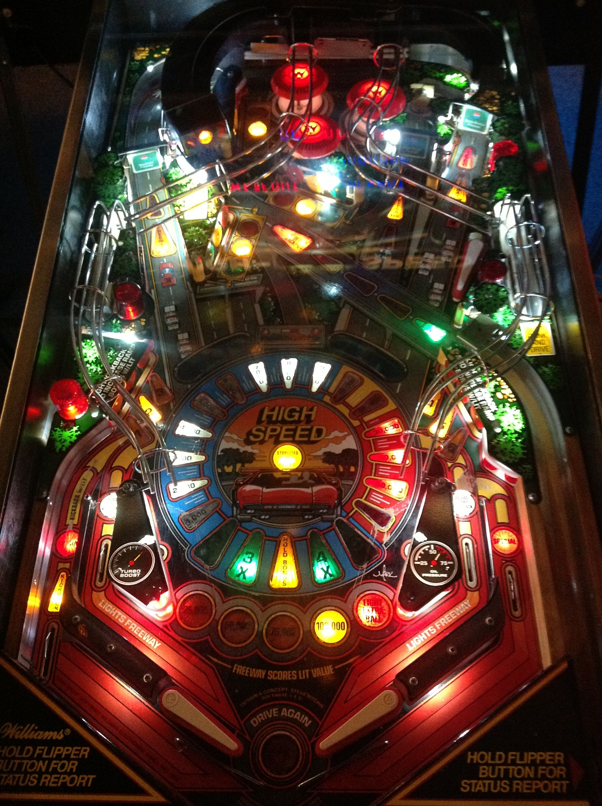 Highspeed Pinball designed by Steve Ritchie. Fun game