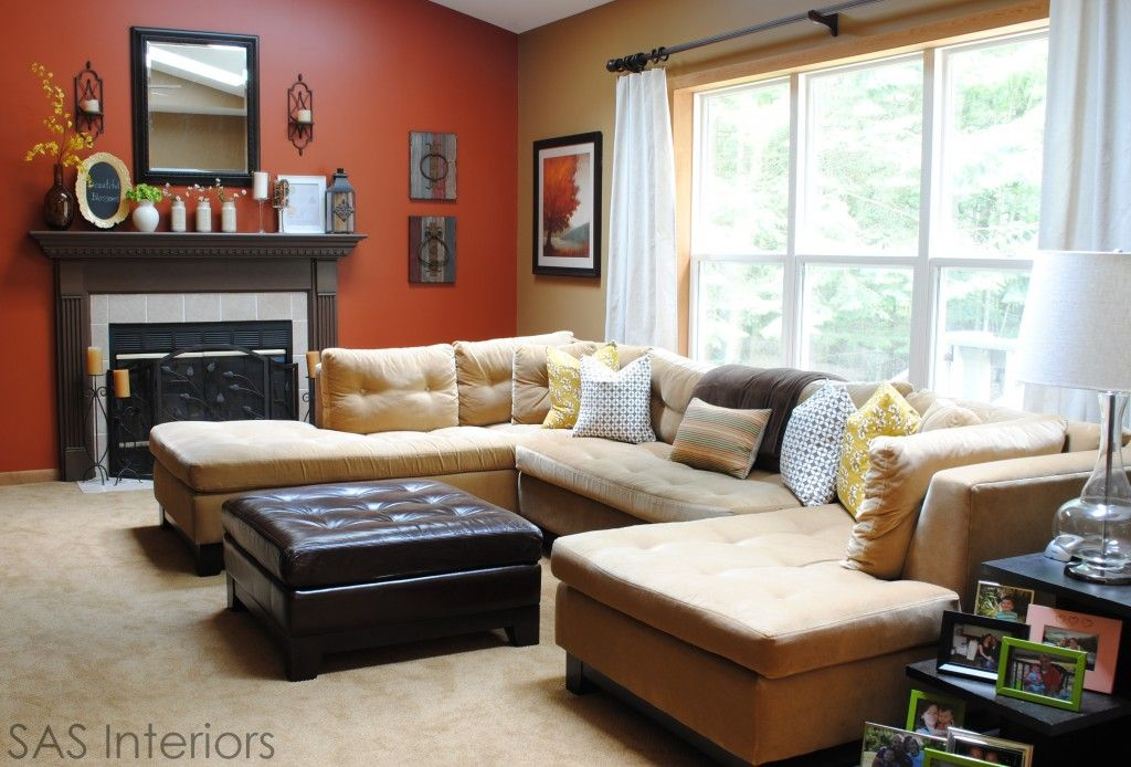 Burnt Orange And Brown Living Room Property he burnt orange color is glidden crisp autumn leaves and the