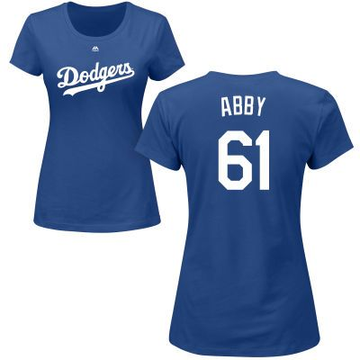 c65bda2c Women's Los Angeles Dodgers Majestic Royal Custom Roster Name & Number T- Shirt