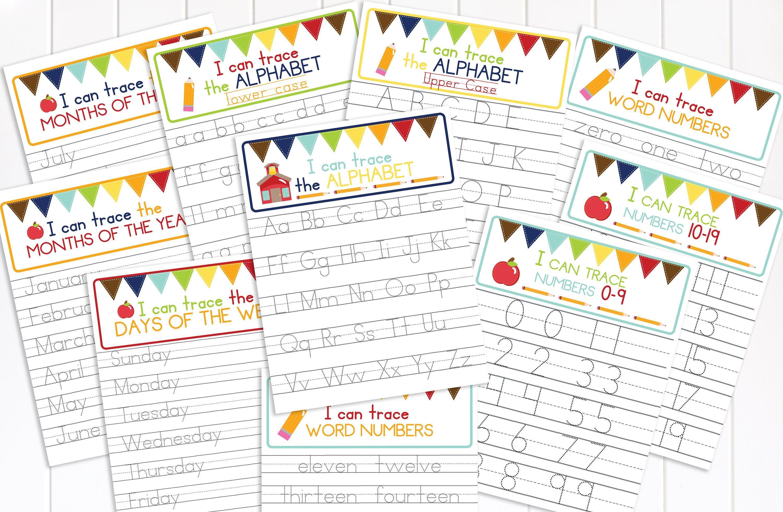 27 Number 19 Tracing Preschool Worksheets Coloring Style