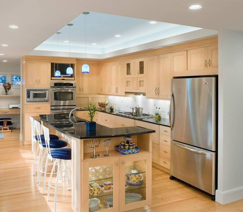 Home Design and Decor , Home Tray Ceiling Design  Kitchen With - simple kitchens designs