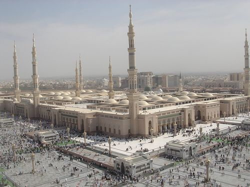 The Prophet S Mosque From Above At Dusk Mosque Islamic Heritage Pilgrimage To Mecca