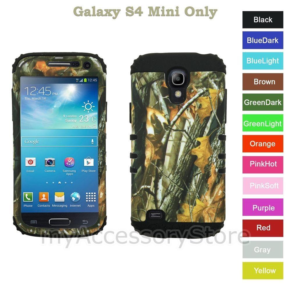 size 40 55327 9c6bc For Samsung Galaxy S4 Mini Camo Mossy Oak Hybrid Rugged Impact Armor ...