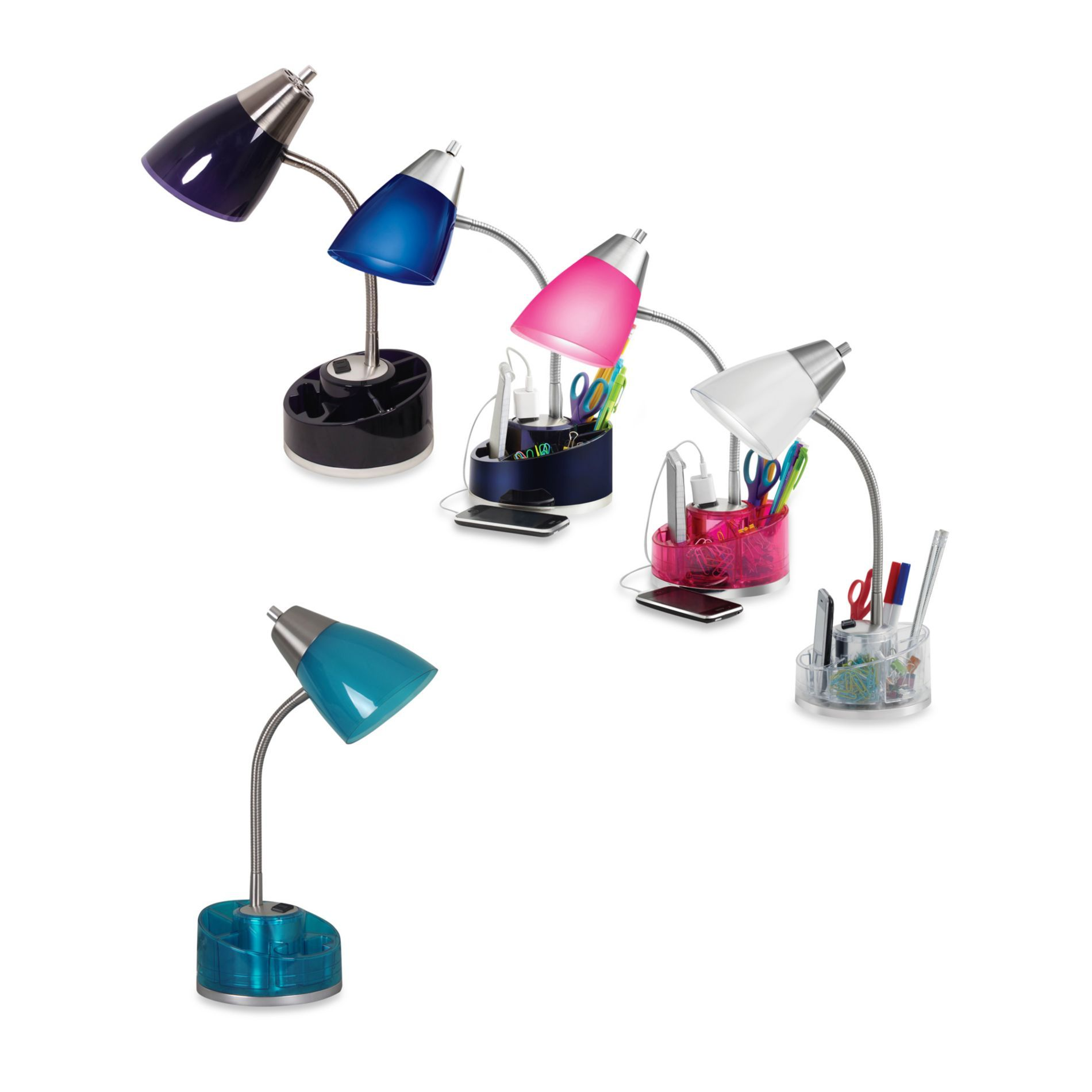task light with a plug on top of the base Desk lamp