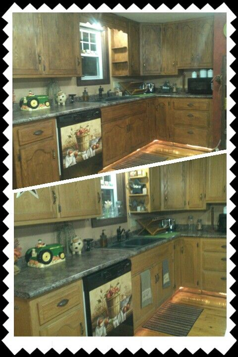 Used dark wax to antique my kitchen cabinets ... i love it ...
