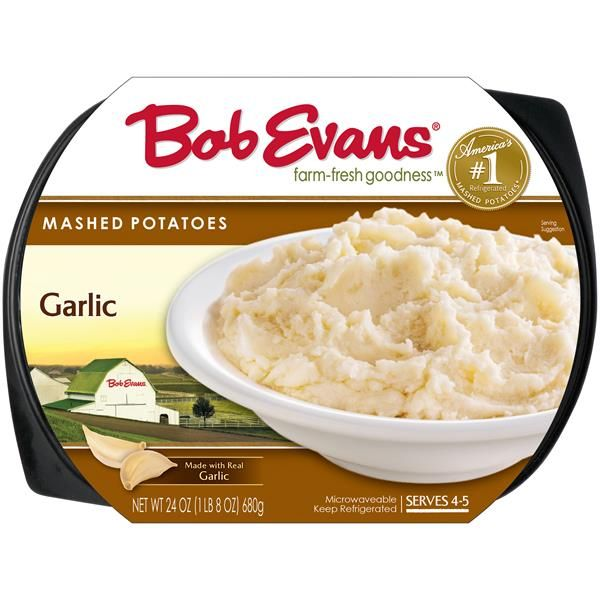 Bob Evans Garlic Mashed Potatoes 24 Oz Tray Sour Cream Chives Mashed Potato Recipes Garlic Mashed Potatoes