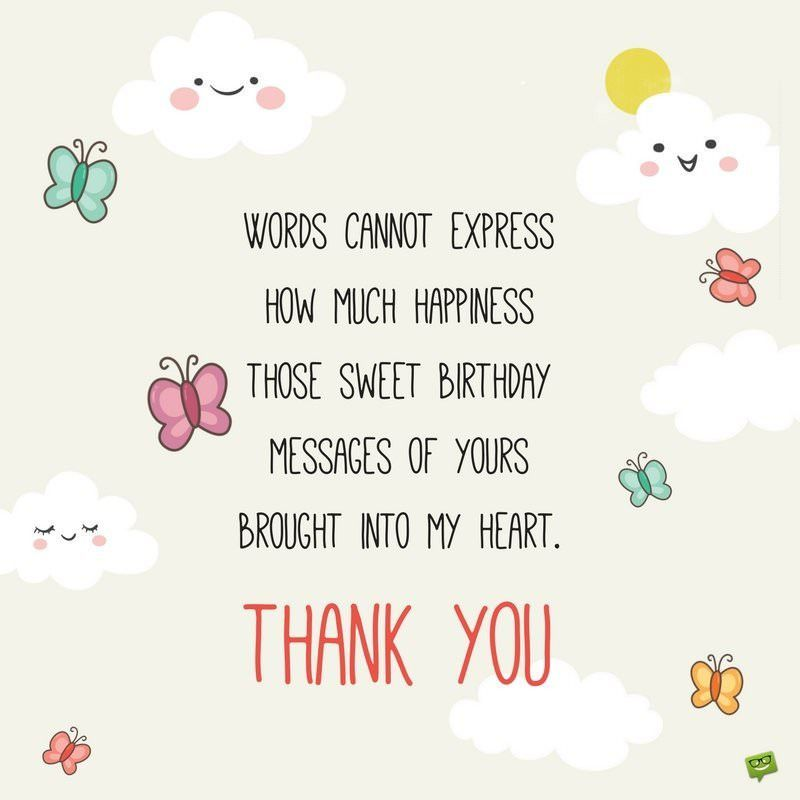 Thank You Note For Birthday Wishes Inspirational 65 Thank You