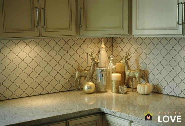 Superior White Arabesque Tile With Gray Grout   Google Search