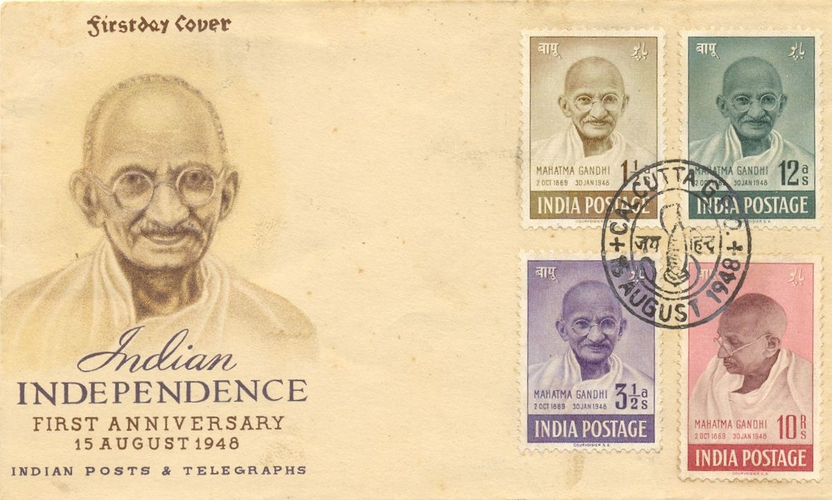 First Day Stamp Covers Value | tags first day cover gandhi