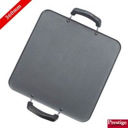 Prestige Tawa Buy Prestige Omega Deluxe Non Stick Square Patri Tawa 320 Mm Online The Prestige Omega Cookware Sets