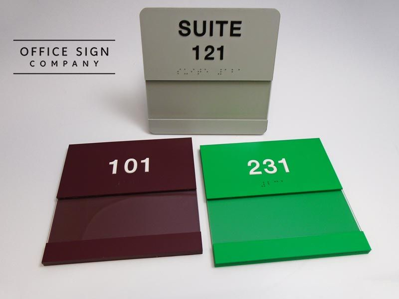 5 75 X 5 75 Quot Grade 2 Braille Room Number Signs With 2